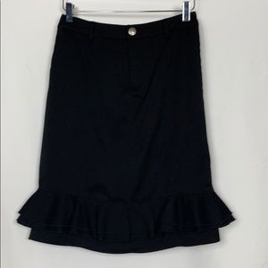 Downeast sizeXS black skirt with ruffles at bottom